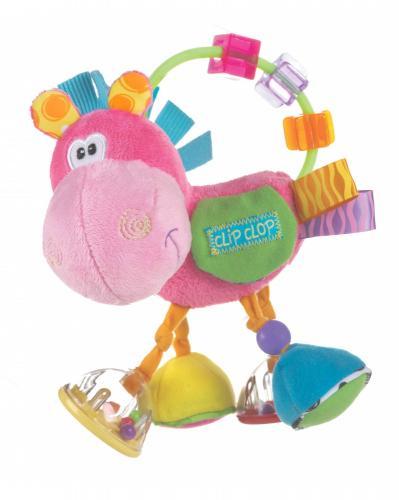 Playgro Chrastítko oslík růžový