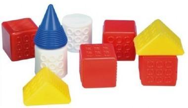 Teddies Kostky kubus Fantazie plast 9ks v krabičce 12x12x12cm 6m+