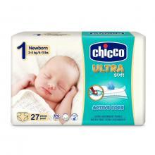 Chicco Jednorázové pleny Ultra Newborn (2-5 kg) 27 ks