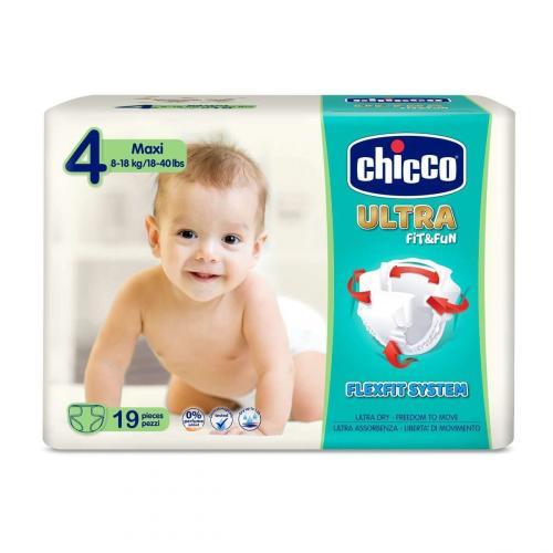 Chicco Jednorázové pleny Ultra Maxi (8-18 kg) 19 ks