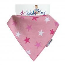DRIBBLE ONS® Designer Pink Stars