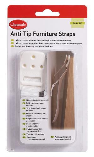 Clippasafe Popruhy proti převrhnutí nábytku