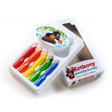 Teddies Pastelky do vany Krtek 5 ks s houbičkou v krabičce