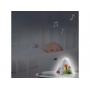 Hudební box s projekcí a zabudovaným MP3 přehrávačem.  Může sloužit jako noční lampička, projektor noční oblohy i jako přenosná lampička.