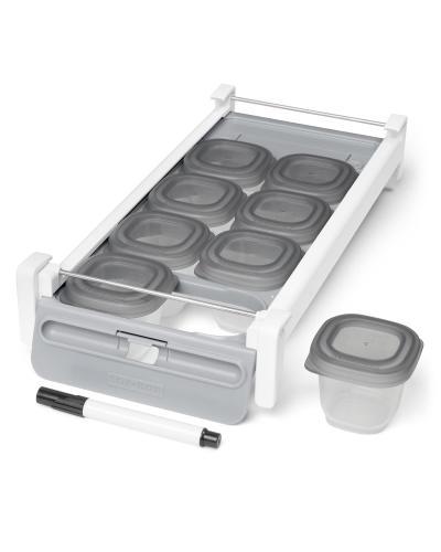 Skip Hop Držák do chladničky s označovačem a stohovatelných nádobkami na jídlo 8 x 60 ml