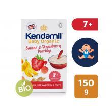Kendamil Jemná dětská BIO/Organická banánovo jahodová kaše (150g)