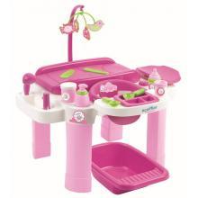 Ecoiffier Nursery velké přebalovací centrum s židličkou a vaničkou pro panenky