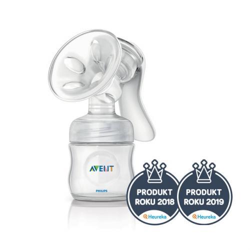 Philips Avent manuální odsávačka mateřského mléka NATURAL se zásobníkem 125 ml