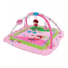 Sunbaby hrací deka a ohrádka růžová s holčičkou