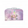 Kufřík Jednorožec růžovo/fialový. Krásně barevný dětský kufřík s motivem Jednorožce o velikosti 35 cm. Vyrobeno v ČR.