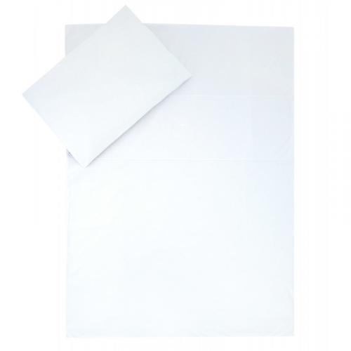Esito Dětské povlečení do postýlky jednobarevné Brumla bílá JERSEY 135x100 cm