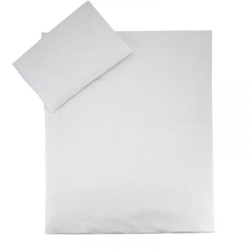 Esito Dětské povlečení do postýlky jednobarevné bílá JERSEY 135x100 cm