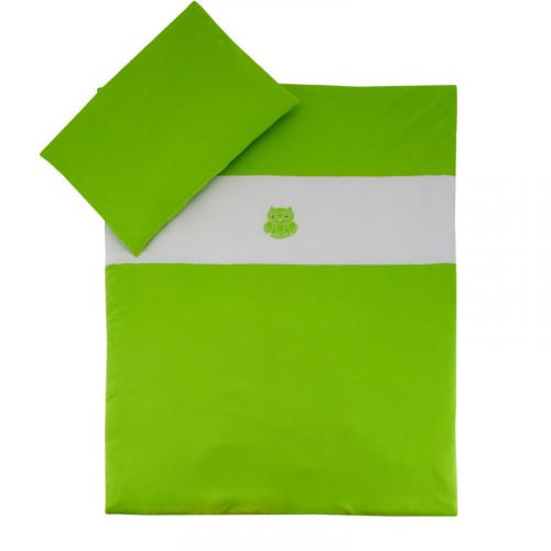 Esito Dětské povlečení do postýlky jednobarevné sytá zelená JERSEY 135x100 cm