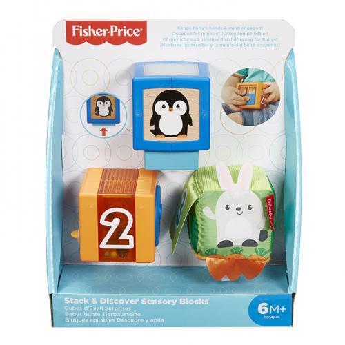 Mattel Fisher-Price Kostky pro rozvoj smyslů