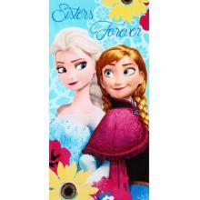 Setino plážová osuška Frozen Sisters Forever Ledové království 70x140 cm