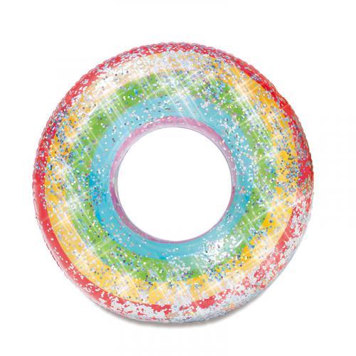 Mac Toys Nafukovací duhový kruh se třpytkami