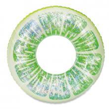 Mac Toys Nafukovací kruh limetka se třpytkami 91 cm