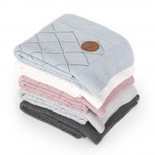 Ceba baby Pletená deka v dárkovém krabičce Rýžový vzor 90 x 90 cm