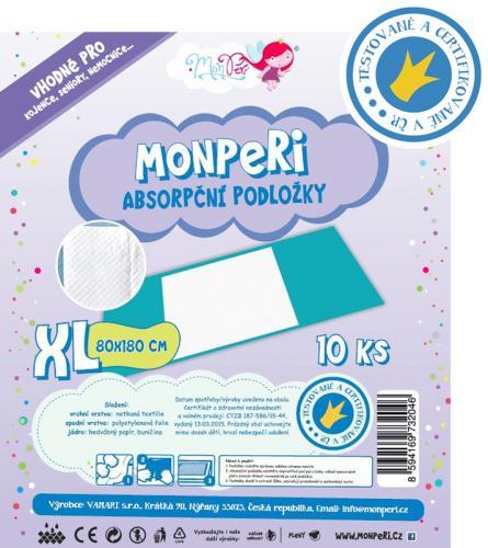 MonPeri Absorpční podložky XL (80x180 cm) 10 ks