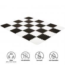 Kinderkraft Podložka pěnové puzzle Luno Black 30 ks 150x180 cm