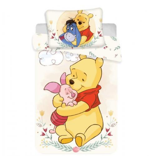 Jerry Fabrics povlečení do postýlky Medvídek Pú cute baby 135x100 cm