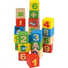 Beluga Dřevěné kostky čísla