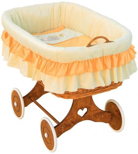 Scarlett Proutěný koš na miminko Martin oranžová