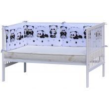 Scarlett Mantinel do postýlky 4dílný Panda bílá 210x40 cm