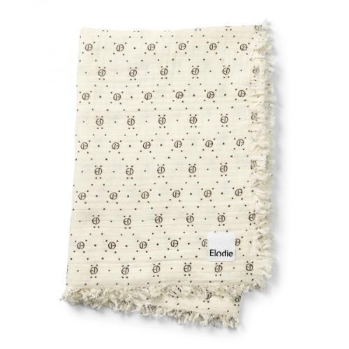 Elodie Details bavlněná deka Monogram Print