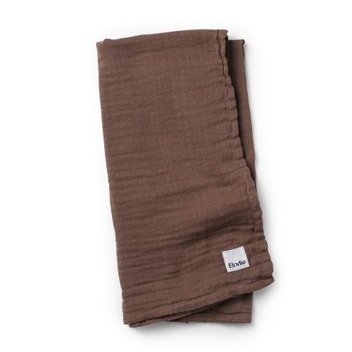 Elodie Details deka z bambusového mušelínu Chocolate