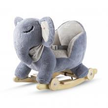 Kinderkraft Houpačka s melodií Elephant gray