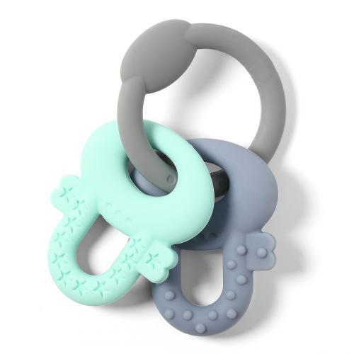 BabyOno Kousátko silikonové Ortho klíče