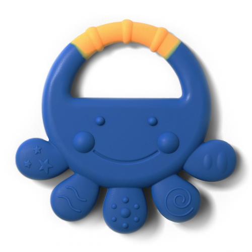 BabyOno Kousátko silikonové chobotnice Vicky modrá, 6m+