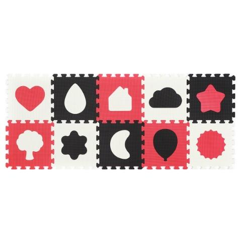 BabyOno Puzzle pěnové 10ks Shapes