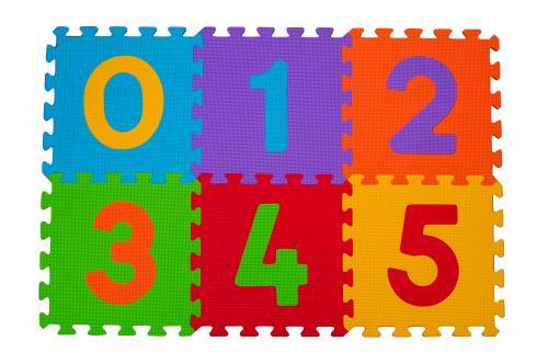 BabyOno Puzzle pěnové číslice 6 ks