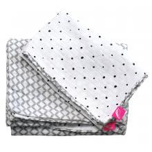 Motherhood Povlečení bavlněné mušelínové do postýlky 2dílné Pro-Washed Grey Classics