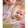 Kojenecká láhev NUK First Choice+ s kontrolou teploty, ideální pro vývoj dětské čelisti, 300 ml, 0-6 měsíců.