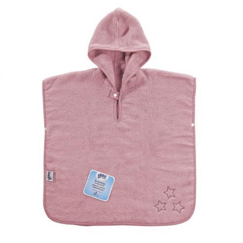KIKKO BIO bavlněné froté pončo XKKO Organic Baby Pink Stars