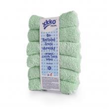 KIKKO BIO bavlněné froté ubrousky XKKO Organic 21x21cm Mint, 6 ks