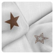 KIKKO Bambusové ubrousky XKKO BMB Natural Brown Stars MIX 30x30 cm - 9 ks
