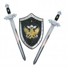 Rappa Sada rytířská s meči a štítem