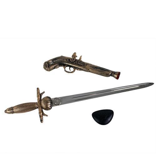 Rappa Sada pirátská pistol s mečem a klapkou na oko