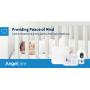 Angelcare nepřetržitě sleduje pohybovou aktivitu miminka, bezkontaktním bezdrátovým senzorem SensAsure™ umístěným pod matrací a vše sděluje rodičům, kterým tak dopřává maximální klid a pohodu.