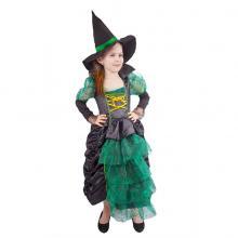 Karnevalový kostým čarodějnice/Halloween zelená, vel. S