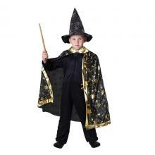 Karnevalový kostým plášť kouzelnický černý