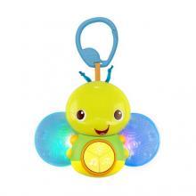 Bright Starts Hračka svítící včelka s melodií na C-kroužku Beaming Buggie™ 0m+