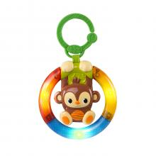 Bright Starts Hračka hudební, svítící na C kroužku Shake&Glow opička 3m+