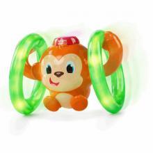 Bright Starts Hračka svítící hudební opička LLB Roll&Glow™ 6-36m