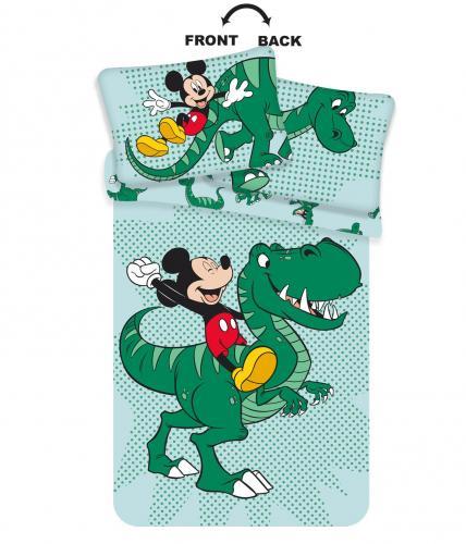 Jerry Fabrics povlečení do postýlky Mickey dino baby 135x100 cm