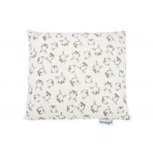 Little Angel Polštářek tisk - natur hnědá zvířátka 30x30 cm